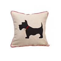 Scotty dog pillow 16 x 16''