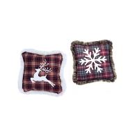 Fabric christmas pillow, 2 ass. Unit price