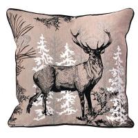 Forest deer pillow 18 x 18''