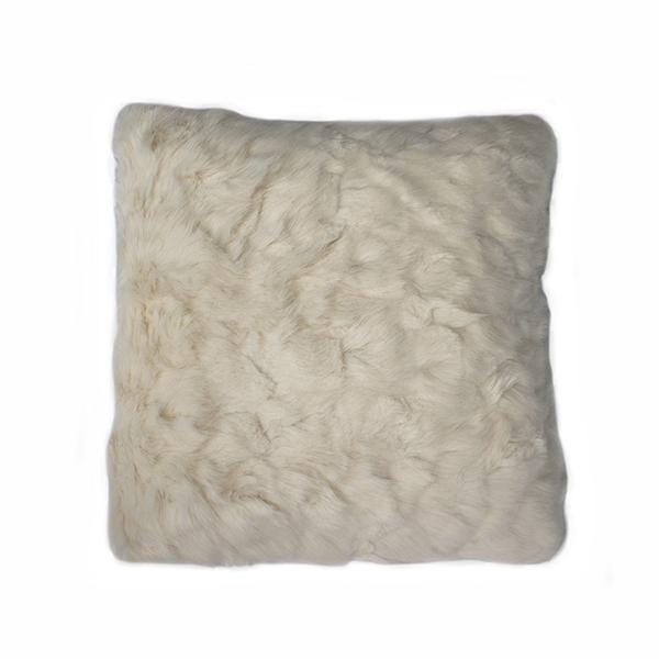 Coussin en fausse fourrure blanche 18x18 39 39 d cors v ronneau - Coussin fausse fourrure ...