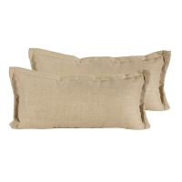 Outdoor beige pillow 11 x 23''