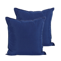 Outdoor blue pillow 20 x 20''