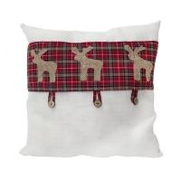 Reindeer pattern pillow 15 x 15''