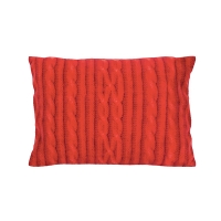 Red Knit Pillow, 14x20''