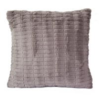 Coussin taupe carré polyester 17,7x17,7''