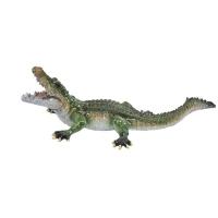 Crocodile vert 10,6x4,5x3,5''