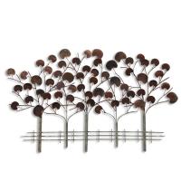 Décor mural arbres abstraites en métal 46,1 x 28,3 x 2,4''