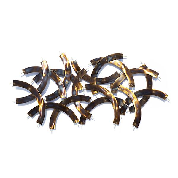 d cor mural bronze en m tal 49 6 x 25 6 x 1 8 39 39 d cors. Black Bedroom Furniture Sets. Home Design Ideas