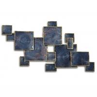 Décor mural carrés superposés en métal 39 x 25,2 x 2,8''
