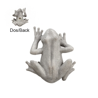 10'' Gray frog wall decor