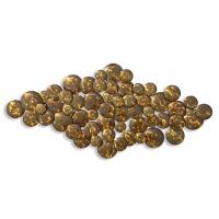Décor mural superposition de ronds dorés en métal 44,5 x 21,