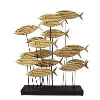 Fish decoration, metal, 19 x 4 x 22''