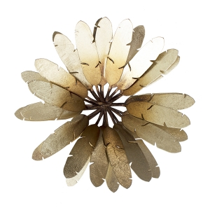 d coration murale fleur m tal 12 x 5 39 39 d cors v ronneau. Black Bedroom Furniture Sets. Home Design Ideas