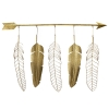 Wall decoration, feather & arrow,  47 x 3.5 x 33.5''