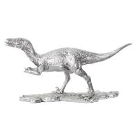 Dinosaure argent 17.1x5.1x9''