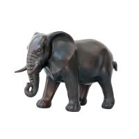 Éléphant en résine, fini bronze