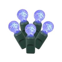 Ensemble de 50 lumières mini bulbes plastique bleu