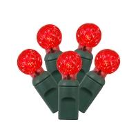 Ensemble de 50 lumières mini bulbes plastique rouge
