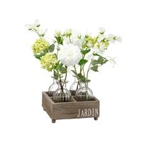 Ensemble de bouquets en vase de vitre 14''