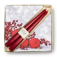 Ensemble serviette de table et chandelle rouge Noël