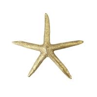 Étoile de mer dorée décorative 5 x 5 x 1''
