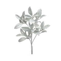 White glitter pittosporum spray, 23''