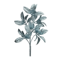 Blue glitter pittosporum spray, 23''