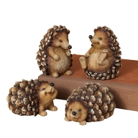 Resin hedgehog with glitter, 4'', Unit price