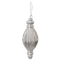 7'' silver glass finial