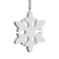 White snowflake ornament, 6''