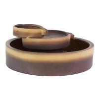 Tabletop ceramic fountain tree levels 6x14x14''