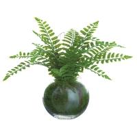 Fougère artificielle en vase, 12''