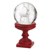 Globe de neige avec renne, 9''