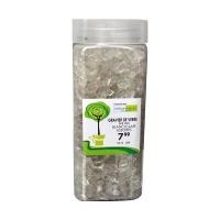 Gravier de verre blanc clair de 6-9 mm dans un pot de 550 ml