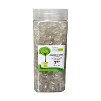 White crushed glass 6-9 mm in a jar of 550 ml / 750 gr