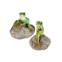 Mini frog on rock 2 x 2 x 3'', 2 ass. Unit price
