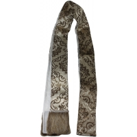 Guirlande brun en velour avec rebord en fourrure 72''
