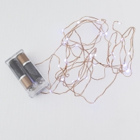 30 Cool white led string, 3 meters