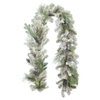 Spruce garland with pine cones 6'