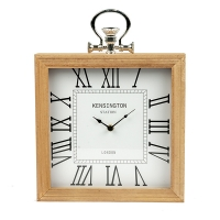 White table clock, 12 X 2.5 X 12''