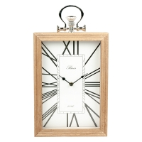 White Table Clock, 13 X 2.5 X 9.5''