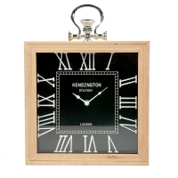 Black Table Clock, 12 X 2.5 X 12''