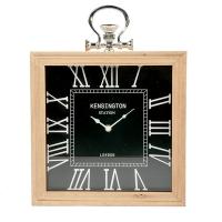 Horloge de table noire, 12 X 2.5 X 12''