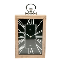 Black Table Clock,  13 X 2.5 X 9.5''