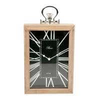 Horloge de table noire, 13 X 2.5 X 9.5''