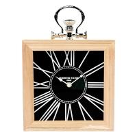Horloge de table noire, 9.5 X 2.5 X 9.5''