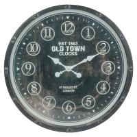 Horloge murale noire, 23.5 X 2.5 X 23.5'