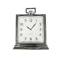 Horloge de table rectangulaire argent 12x4x15,5''