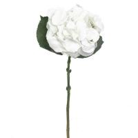 Fleur artificielle, hydrangée crème 17,5''