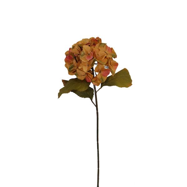 Fleur artificielle hydrang e jaune et or 25 d cors for Soldes fleurs artificielles